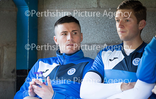St Johnstone v Celtic&hellip;04.11.17&hellip;  McDiarmid Park&hellip;  SPFL<br />Michael O&rsquo;Halloran sits on the bench<br />Picture by Graeme Hart. <br />Copyright Perthshire Picture Agency<br />Tel: 01738 623350  Mobile: 07990 594431