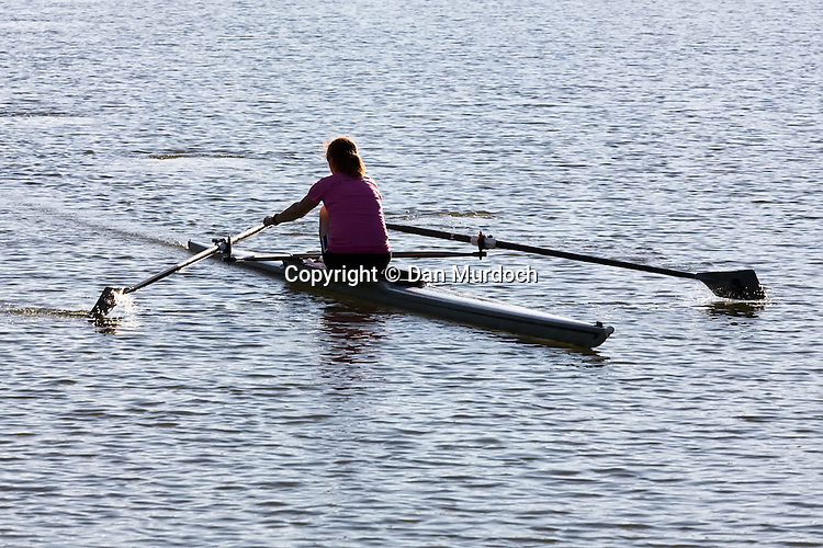 single scull on a river