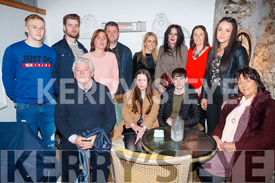 Sinead Hanrahan, Ballybunion, who celebrated her 18th birthday at Bella Bia restaurant, Tralee, on Friday, front l-r: John Regan, Sinead Hanrahan, Darragh Hanrahan and Marcella O'Regan. Back l-r: Stevie O'Sullivan, Ciarán O'Regan, Siobhan Meehan, John O'Regan, Kathy O'Regan, Aisling O'Regan, Nora Falvey and Katie Falvey.