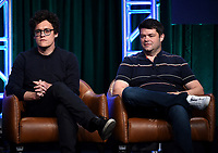2019 FOX SUMMER TCA: (L-R): BLESS THE HARTS Executive Producers Phil Lord and Chris Miller during the ANIMATION DOMINATION: BLESS THE HARTS/DUNCANVILLE panel at the 2019 FOX SUMMER TCA at the Beverly Hilton Hotel, Wednesday, Aug. 7 in Beverly Hills, CA. CR: Frank Micelotta/FOX/PictureGroup
