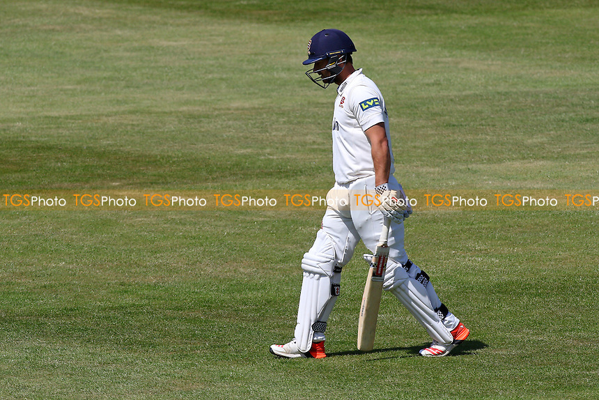 Jaik Mickleburgh of Essex leaves the field having been dismissed - Northamptonshire CCC vs Essex CCC - LV County Championship Division Two Cricket at the County Ground, Abington, Northampton - 07/06/15 - MANDATORY CREDIT: TGSPHOTO - Self billing applies where appropriate - contact@tgsphoto.co.uk - NO UNPAID USE