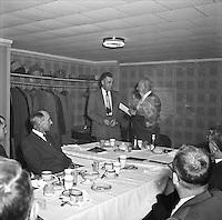 Central Elect (Harry Hogen) giving deed for park land to city mayor (Gordon Killenger) at Kiwanis me