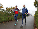 England's Jordan Henderson and Gareth Southgate look on during training at Tottenham Hotspur training centre, London. Picture date November 14th, 2016 Pic David Klein/Sportimage