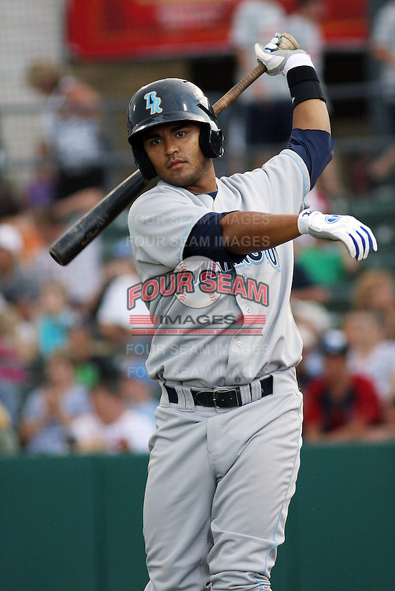 Wilmington Blue Rocks shortstop Christian Colon #12 before a game vs. the Myrtle Beach Pelicans at BB&T Coastal Field in Myrtle Beach,SC on July 21, 2010.   Wilmington defeated Myrtle Beach by the score of 3-2.  Photo By Robert Gurganus/Four Seam Images