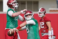NWA Democrat-Gazette/DAVID GOTTSCHALK   Arkansas Razorback quarterback Austin Allen Thursday, July 17, 2017, during practice on campus in Fayetteville.