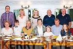 Birthday<br /> Kathleen Collins from Ballyard, Tralee celebrated a signifant Birthday<br /> last Saturday night in Leens Hotel Abbeyfeale with her husband<br /> Michael, Son Mark, Grandchildren &amp; Marks inlaws from Abbeyfeale.<br /> <br /> Seated: Noreen O' Mahony, Shane Collins ( Grandson),Michael Collins<br /> (husband), Kathleen Collins, Emma Rose Collins (Granddaughter), Mark<br /> Collins (Son), Sarah Louise Collins (Granddaughter).<br /> <br /> Standing: Jerry Lyons, Esther Lyons, Angela Collins (Daughter in Law),<br /> Jerry O' Connor, Batt O' Connor.