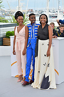 Samantha Mugatsia, Sheila Munyiva &amp; Wanuri Kahiu at the photocall for &quot;Rafiki&quot; at the 71st Festival de Cannes, Cannes, France 09 May 2018<br /> Picture: Paul Smith/Featureflash/SilverHub 0208 004 5359 sales@silverhubmedia.com