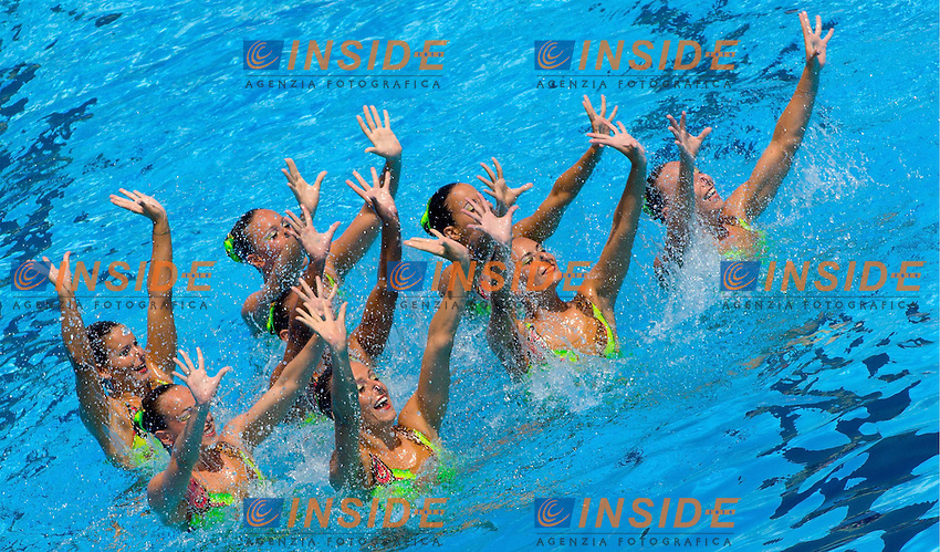 Roma 22nd July 2009 - 13th Fina World Championships From 17th to 2nd August 2009..Free Combination ..Italy..photo: Roma2009.com/InsideFoto/SeaSee.com