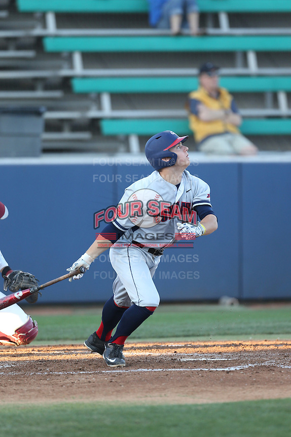 Jeffrey Bohling (17) of the Gonzaga Bulldogs bats during a game against the Loyola Marymount Lions at Page Stadium on March 27, 2015 in Los Angeles, California. Loyola Marymount defeated Gonzaga 6-5.(Larry Goren/Four Seam Images)