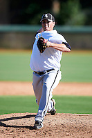 Chicago White Sox minor league pitcher Eric Jaffe #59 during an instructional league game against the Los Angeles Dodgers at the Camelback Training Complex on October 9, 2012 in Glendale, Arizona.  (Mike Janes/Four Seam Images)