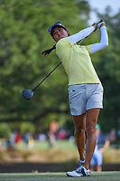 Jennifer Song (USA) watches her tee shot on 2 during round 1 of the 2019 US Women's Open, Charleston Country Club, Charleston, South Carolina,  USA. 5/30/2019.<br /> Picture: Golffile | Ken Murray<br /> <br /> All photo usage must carry mandatory copyright credit (© Golffile | Ken Murray)