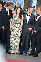 "Garrett Hedlund, Kristen Stewart and Tom Sturridge   attending the ""On the Road"" Premiere during the 65th annual International Cannes Film Festival in Cannes, 23.05.2012...Credit: Timm/face to face"