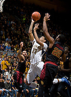 Allen Crabbe of California shoots the ball during the game against USC at Haas Pavilion in Berkeley, California on February 17th, 2013.  California defeated USC, 76-68.