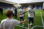 Home players making their way from the pitch after the match after Preston North End took on Reading in an EFL Championship match at Deepdale. The home team won the match 1-0, Jordan Hughill scoring the only goal after 22nd minutes, watched by a crowd of 11,174.