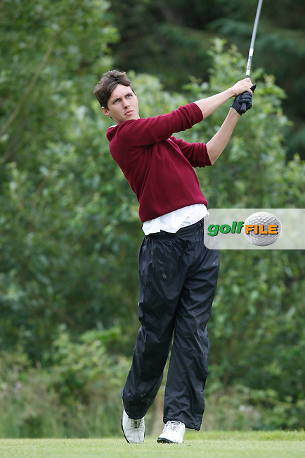 Dale O'Sullivan (Ballybunion) on the 12th tee during the Semi-Finals of the Munster Bruen &amp; Shield Finals at East Clare Golf Club on Sunday 19th July 2015.<br /> Picture:  Golffile | Thos Caffrey All photo usage must carry mandatory copyright credit (&copy; Golffile | Thos Caffrey)