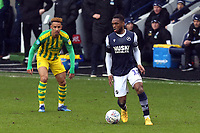 Mahlon Romeo of Millwall and Hal Robson-Kanu of West Bromwich Albion during Millwall vs West Bromwich Albion, Sky Bet EFL Championship Football at The Den on 9th February 2020