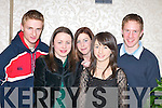 Attending: At the Kerry AAI Awards night in the Killarney Oaks Hotel last Friday were, l-r: Colm OCallaghan (Spa/Muckross), Julie OSullivan, Eilish Fitzpatrick and Denis Sheahan (Gneeveguilla) and Emer Tangney (Spa/Muckross)..