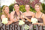 Bridesmaids at the wedding of Emma O'Connell and Noel Kelly on Friday at the Ballygarry House Hotel were Michelle Geoghegan, Aoife Donnellan, Breda Finucane and Noelle O'Sullivan.