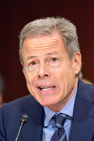 """Jeffrey Bewkes, Chairman & Chief Executive Officer,<br /> Time Warner, gives testimony before the United States Senate Committee on the Judiciary Subcommittee on Antitrust, Competition Policy & Consumer Rights during the hearing """"Examining the Competitive Impact of the AT&T-Time Warner Transaction"""" on Capitol Hill in Washington, DC on Wednesday, December 7, 2016.<br /> Credit: Ron Sachs / CNP /MediaPunch"""