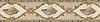 """9"""" Jane border, a hand-cut stone mosaic, shown in honed Saint Richard, Ivory Cream,  New Kendra, polished Rosa Portagallo, Traventine Noce, Breccia Oniciata, Giallo Reale, Renaissance Bronze, Verde Luna,  Breccia Pernice, and Aegean Brown."""