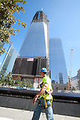Two days before the 10th anniversary of the 9/11 attacks, September 9, 2011, the Freedom Tower rises above the World Trade Center site in New York, New York..Credit: Sipa Press via CNP