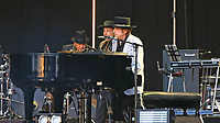 Bob Dylan performs on stage at Hyde Park, London. July 12th 2019<br /> <br /> Photo by Keith Mayhew