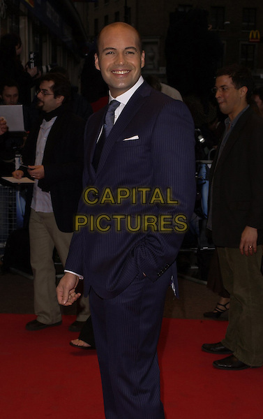 """BILLY ZANE .World Premiere of """"Three"""" at the Odeon West End, Leicester Square, London, UK..May 2nd, 2006.Ref: CAN.half length blue pinstripe suit jacket.www.capitalpictures.com.sales@capitalpictures.com.©Capital Pictures"""