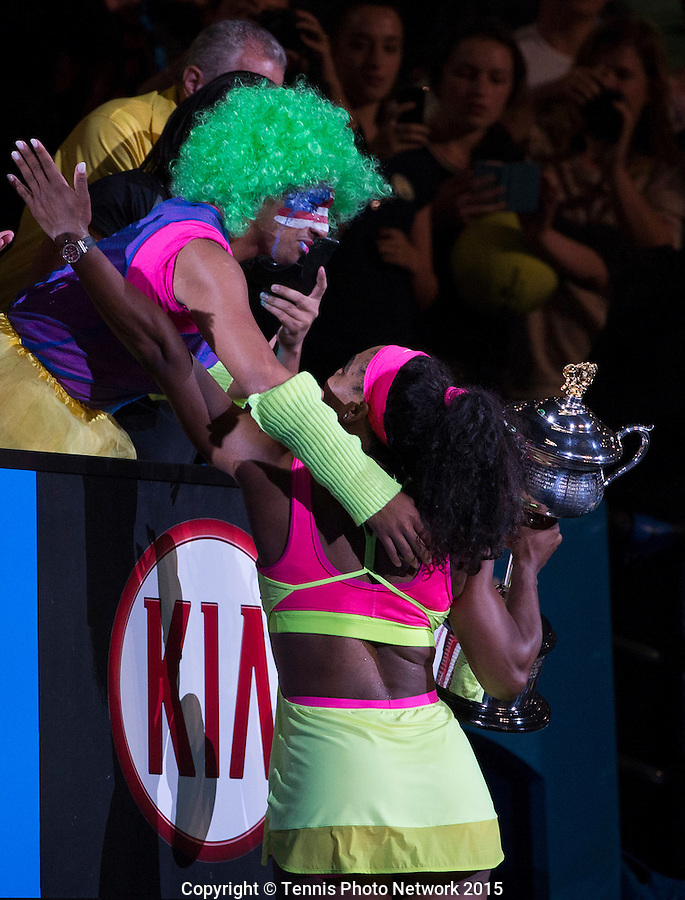 SERENA WILLIAMS (USA)<br /> <br /> Tennis - Australian Open 2015 - Grand Slam -  Melbourne Park - Melbourne - Victoria - Australia  - 31 January 2015. <br /> &copy; AMN IMAGES
