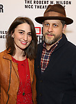 Sara Bareilles and Joe Tippett attends the opening night performance of the MCC Theater's 'Alice By Heart' at The Robert W. Wilson Theater Space on February 26, 2019 in New York City.