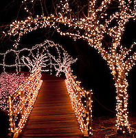 "Each year Honor Heights Park, in Muskogee Oklahoma  is transformed into a holiday wonderland with over a million lights creating the ""Garden of Lights""."