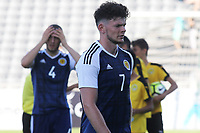Scotland captain, Oliver Burke, walks off at the end of the match closely followed by Alex Iacovitti during England Under-18 vs Scotland Under-20, Toulon Tournament Semi-Final Football at Stade Parsemain on 8th June 2017