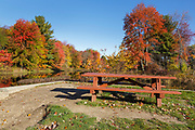 Griffin Mill Site during the autumn months in Auburn, New Hampshire USA