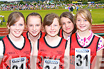 Rock Street/Caherslee runners at the Denny County Community Games in An Riocht Castleisland on Sunday l-r: Katie Liston, Laura Lynch, Hannah Ryan, Hazel Carmody and Sarah Cleary   Copyright Kerry's Eye 2008