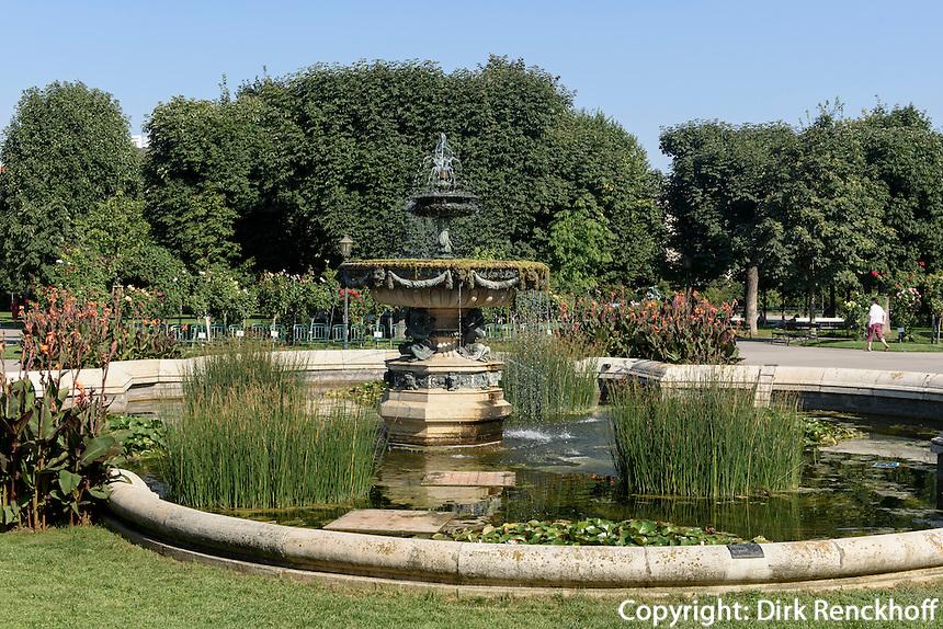 Brunnen im Volksgarten in Wien, &Ouml;sterreich, UNESCO-Weltkulturerbe<br /> fountain in the Volksgarten, Vienna, Austria, world heritage