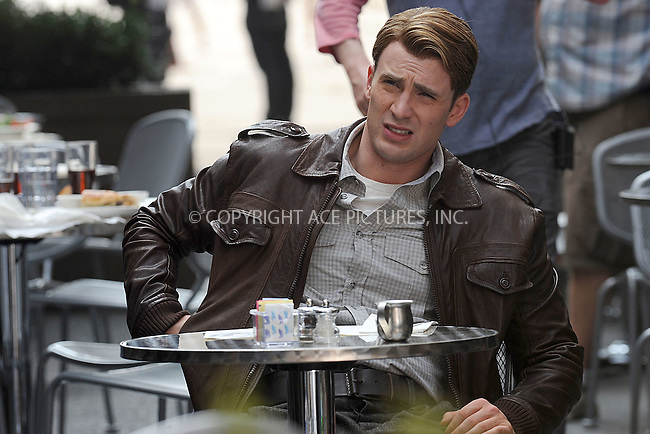 WWW.ACEPIXS.COM . . . . . .September 3, 2011, New York City....Chris Evans on the  movie set of The Avengers on September 3, 2011 in New York City ....Please byline: KRISTIN CALLAHAN - ACEPIXS.COM.. . . . . . ..Ace Pictures, Inc: ..tel: (212) 243 8787 or (646) 769 0430..e-mail: info@acepixs.com..web: http://www.acepixs.com .