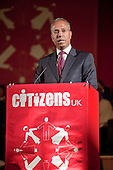 """Luftur Rahman, Mayor of Tower Hamlets, addresses a """"Day for Civil Society"""" organized by Citizens UK / London Citizens to celebrate 10 years of the Living Wage Campaign, launch a National Living Wage Foundation and call for the living wage to be adopted nationally.  Central Hall, Westminster."""