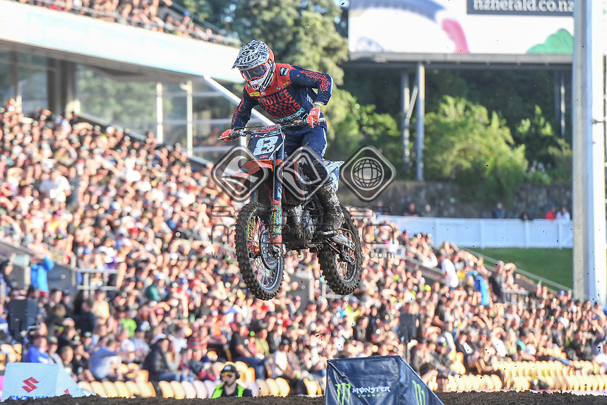 Dakota Alix (USA)<br /> 2018 SX Open - Auckland / SX 2<br /> FIM Oceania Supercross Championships<br /> Mt Smart Stadium / Auckland NZ<br /> Saturday Nov 24th 2018<br /> &copy; Sport the library/ Jeff Crow / AME