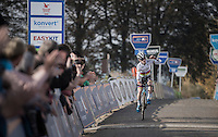 U23 World Champion Eli Yserbyt (BEL/U23/Marlux-Napoleon Games) winning on top of the infamous Koppenberg<br /> <br /> 25th Koppenbergcross 2016