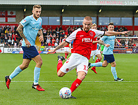 Fleetwood Town's Paddy Madden shoots at goal<br /> <br /> Photographer Alex Dodd/CameraSport<br /> <br /> The EFL Sky Bet League One - Fleetwood Town v Accrington Stanley - Saturday 15th September 2018  - Highbury Stadium - Fleetwood<br /> <br /> World Copyright &copy; 2018 CameraSport. All rights reserved. 43 Linden Ave. Countesthorpe. Leicester. England. LE8 5PG - Tel: +44 (0) 116 277 4147 - admin@camerasport.com - www.camerasport.com