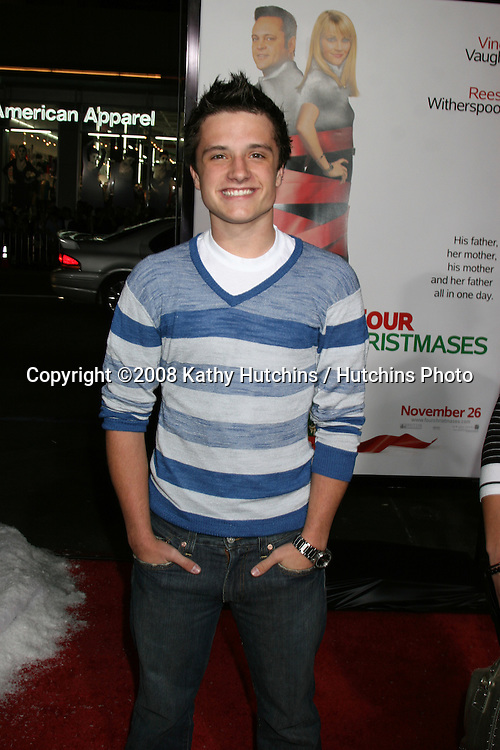 Josh Hutcherson arriving at  the  Premiere of Four Christmases at Grauman's Chinese Theater in Los Angeles, CA.November 20, 2008.©2008 Kathy Hutchins / Hutchins Photo....