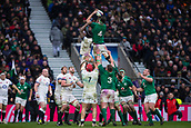 17th March 2018, Twickenham, London, England; NatWest Six Nations rugby, England versus Ireland; James Ryan of Ireland wins a line out