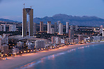 Levante beach. Benidorm, Alicante province. Spain
