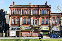 Pictured: The old YMCA building on Stepney Street, Llanelli. Wednesday 09 March 2018<br /> Re: The effect that the Scarlets RFC has had in the town of Llanelli in Carmarthenshire and the west Wales region.