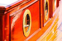 Sweden, Stockholm. Veteran boats in Stockholm. Details.