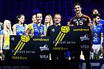 28.10.2018, TUI Arena, Hannover<br />Volleyball, Supercup, Siegerehrung<br /><br />Ehrung comdirekt Fastest Service - Denise Hanke (#10 Schwerin), Kyle Russell (#15 Berlin)<br /><br />  Foto © nordphoto / Kurth