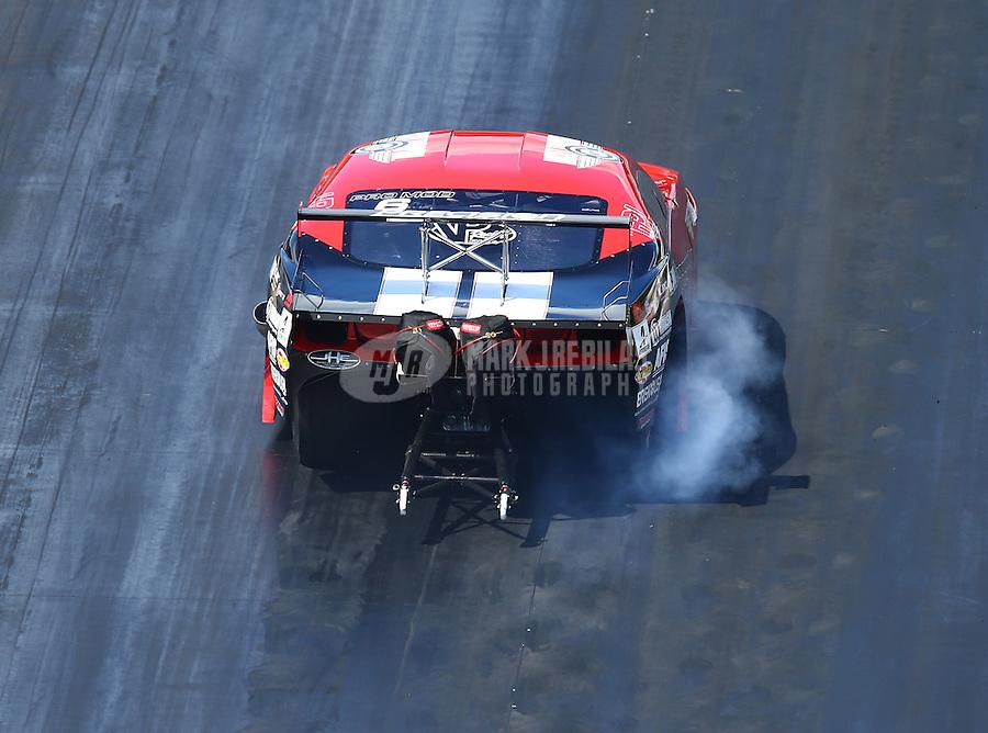 Jun 17, 2016; Bristol, TN, USA; NHRA pro mod driver Bill Glidden during qualifying for the Thunder Valley Nationals at Bristol Dragway. Mandatory Credit: Mark J. Rebilas-USA TODAY Sports