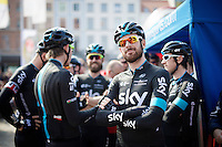 a smiling Sir Bradley Wiggins (GBR/Sky) before his 1 but last race for Team SKY<br /> <br /> 103rd Scheldeprijs 2015