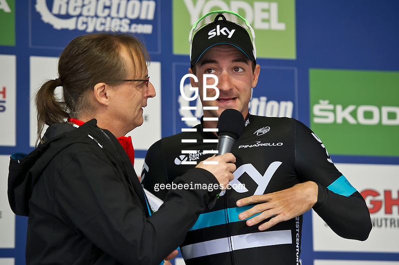 2016 Tour of Britain<br /> Stage 2, Carlisle to Kendal<br /> 5 September 2016<br /> Elia Viviani, Team Sky