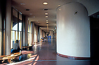 F.L. Wright: Marin County Civic Center. Courts Floor.  Photo '83.