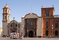 The Iglesia de la Compania and the Capilla de Loreto on the Plaza de los Fundadores, San Luis de Potosi, Mexico